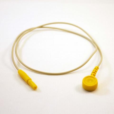 Cable conexión color amarillo DIN hembra 1.6mm