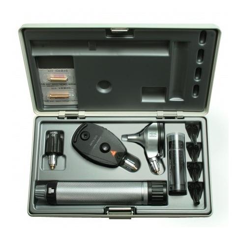 Equipo de diagnóstico con otoscopio-oftalmoscopio BETA 200 con cabezal iluminador, mango a pilas, estuche rígido