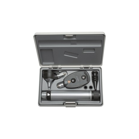 Equipo de diagnóstico con otoscopio-oftalmoscopio K-180 y juego de espéculos, en estuche rígido