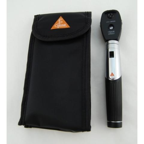 Mini-set 3000 con oftalmoscopio y mango a pilas, en estuche blando
