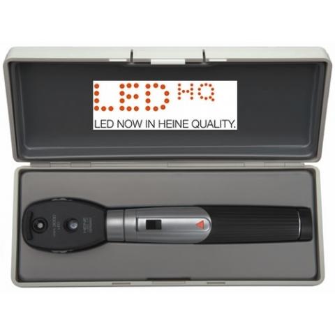 Oftalmoscopio mini 3000 LED, con mango a pilas y estuche rígido