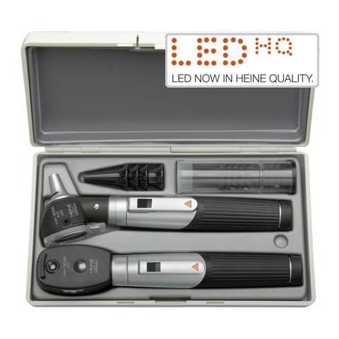 Mini-set 3000 con otoscopio LED, oftalmoscopio LED, con dos mangos a pilas y estuche rígido