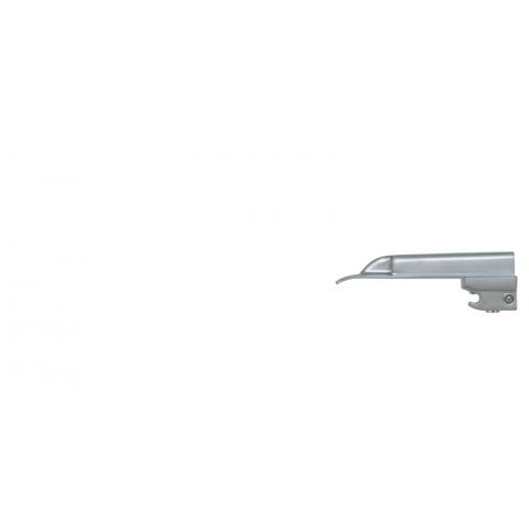 Espátula de laringoscopio de luz fria, recta número 0 prematuros 82 mm.