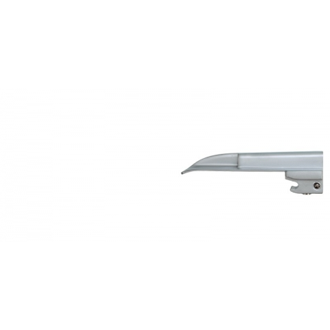Espátula de laringoscopio de luz fria, recta número 1 lactantes 92 mm.