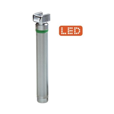 Mango pequeño F.O. LED a pilas 2,5 v. para laringoscopios HEINE
