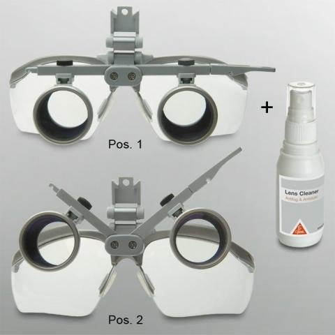 Lupa HR 4 x/340 mm con soporte i-View y protector S-Guard para acoplar a lámpara 3S LED