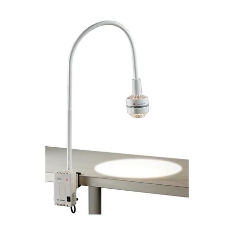 Lámpara de reconocimiento halógena HL 5000 con fuente de red y pinza