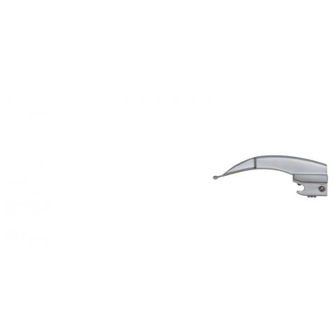 Espátula de laringoscopio de luz fria McIntosh número 0 prematuros 80 mm.