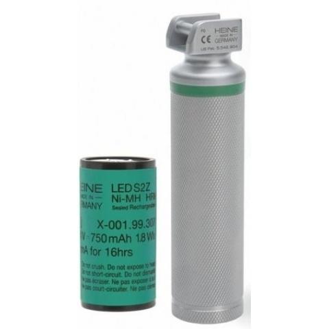 Mango corto F.O. LED recargable 3,5 v. para laringoscopios HEINE
