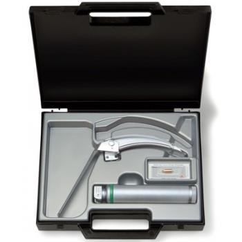 Equipo de laringoscopio FLEX-TIP con espátula McIntosh número 3 con punta giratoria y mango a pilas