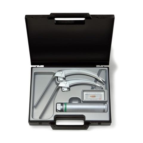Equipo de laringoscopio FLEX-TIP con 2 espátulas FT3 y FT4 con punta flexible y mango a pilas