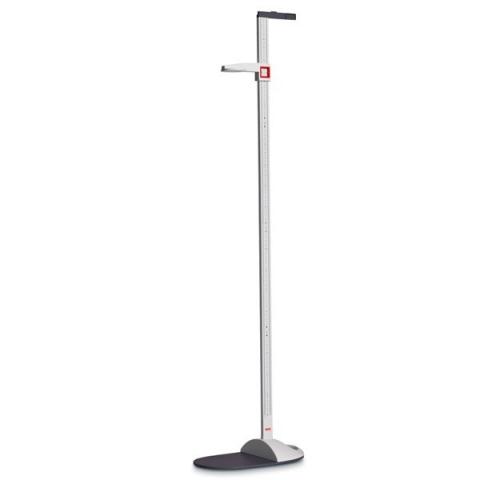 Estadiómetro portátil desmontable SECA 217 para tallas de 20 a 205 cm, división 1 mm con plataforma adaptable a báscula de suelo