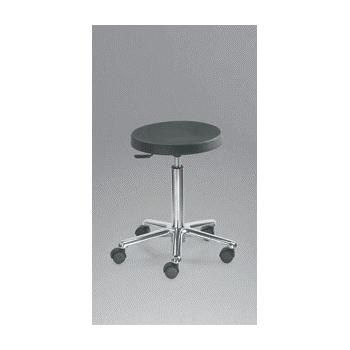 Taburete base aluminio cromado asiento poliuretano