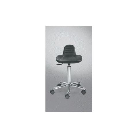 Taburete aluminio cromado asiento poliuretano