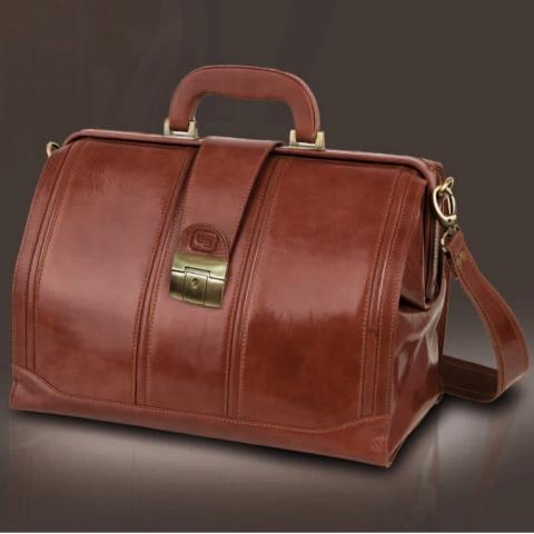 Maletín tradicional piel marrón, modelo DOC's
