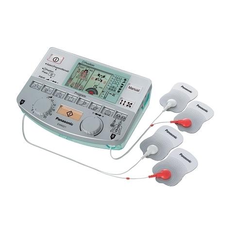 TENS con 4 electrodos para tratamiento de zonas extensas