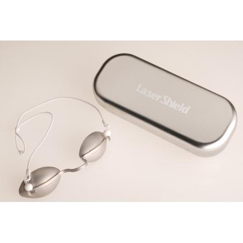 Gafas foto-depilación IPL protección paciente