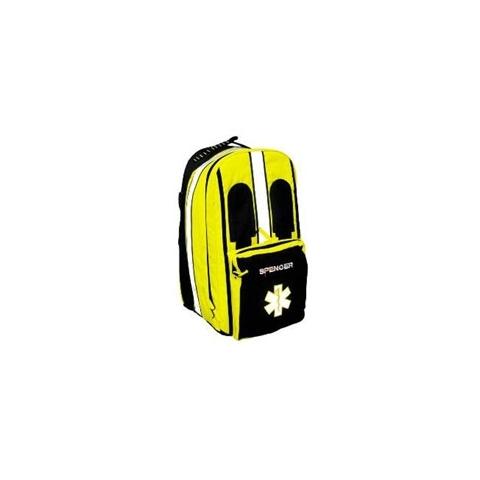 Mochila de rescate Mark negro y amarillo vacía