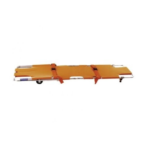Camilla plegable emergencia con ruedas Spencer 200 naranja