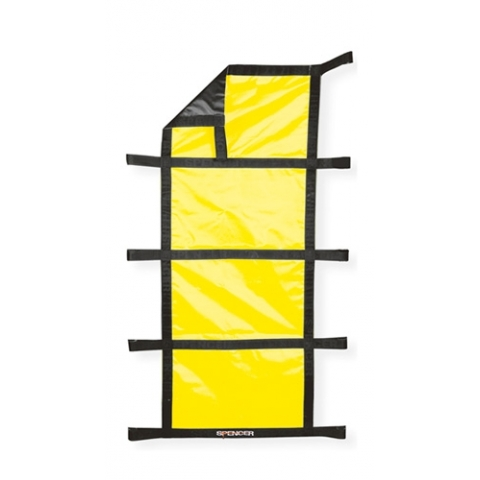 Lona porta-heridos en nylon recubierto Hirvin diez asas amarilla
