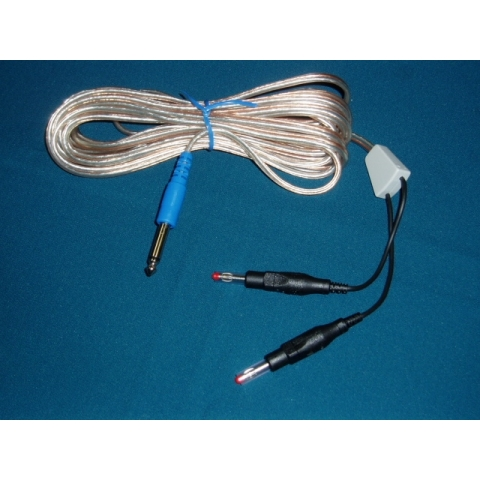 Cable para placa dispersiva reutilizable y conector jack 6.3mm