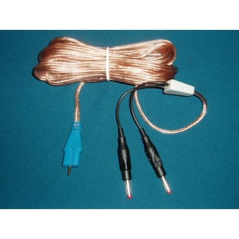 Cable para placa dispersiva reutilizable tipo REM y conector tipo Valleylab