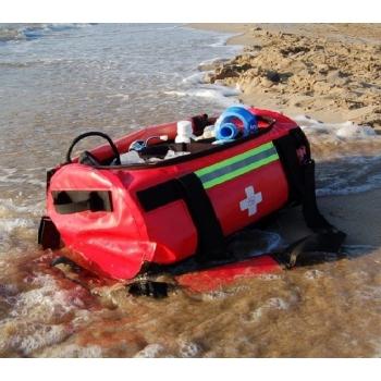 Bolsa cilíndrica estanca, tarpaulin. Color rojo. Modelo PILOT'S.