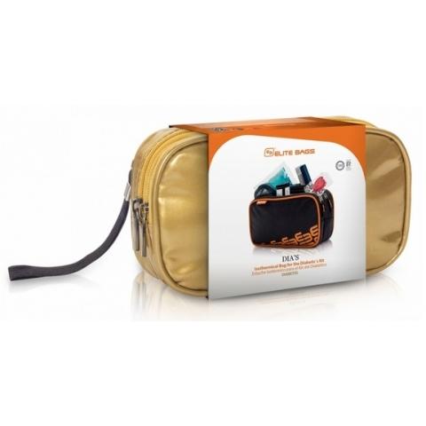 Bolsa isotérmica para el diabético. Color: Dorado. Modelo DIA'S Deluxe - Limited Edition