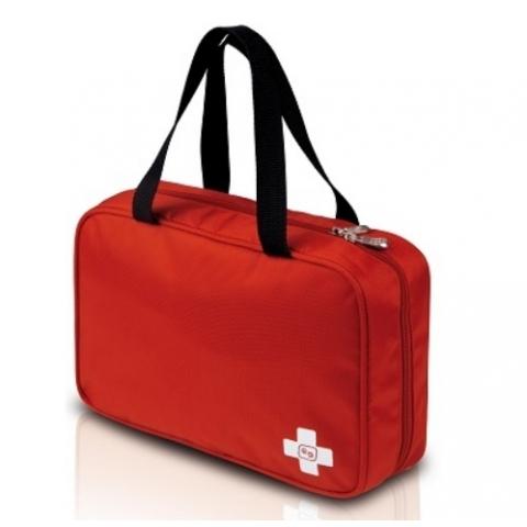 Bolsa de intubación o botiquín primeros auxilios desplegable. Color: Rojo. Modelo INTUB'S