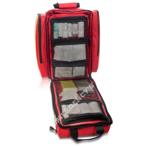 Mochila rescate emergencias, loneta roja