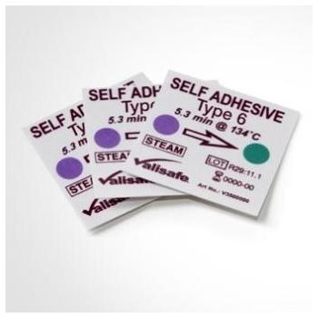 Indicador químico de emulación Clase 6 para esterilización, adhesivo