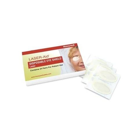 Cobertores oculares desechables Laser-Aid, caja de 24
