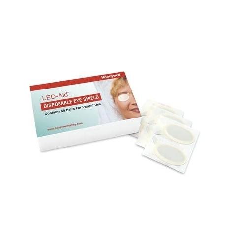 Cobertores oculares desechables LED-Aid, caja de 50