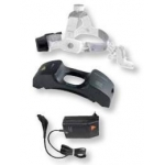 Fotóforo Heine ML4 LED HeadLight, lámpara frontal con cinta craneal profesional L, mPack UNPLUGGED y transformador enchufe