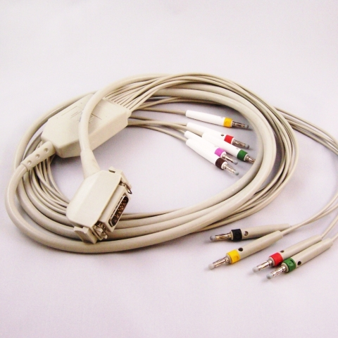 Cable paciente ECG para Bosch, Cambridge, Cardio Control, Customed