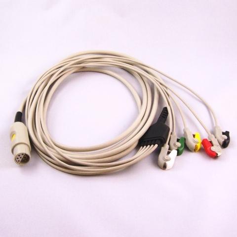 Cable de paciente ECG para monitor Lohmeier M195, M608, M808, M910, M911L