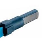 Pinza bipolar puntas 2mm en ángulo longitud 200mm conexión doble pala europea