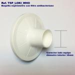 Caja 100 boquillas con filtro desechables para espirometría