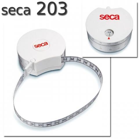 Cinta SECA 203 para medir la circunferencia del cuerpo con el ratio cintura-cadera (WHR) con mecanismo de enrollado automático