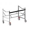 Porta Stock Marco de soporte con ruedas para camillas apilables