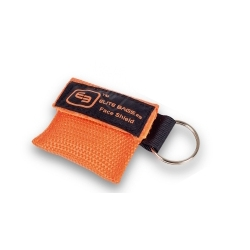 MASK'S, bolsa plástico para reanimación CPR. Color naranja.