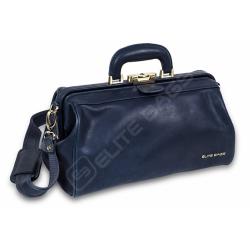 CLASSY'S, maletín médico compacto, piel. Color azul.