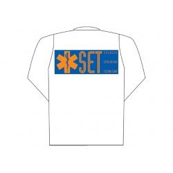 "Mod.1000 Polo-Set Talla.M Blanca M/Larga Logo.""Set"""