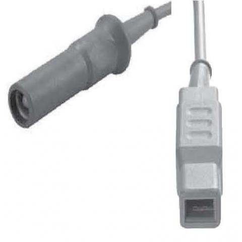 Cable bipolar conectores tipo Erbe y pinza europea longitud 5 metros