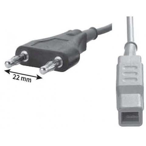 Cable bipolar conectores tipo Erbe y pinza europea longitud 3 metros