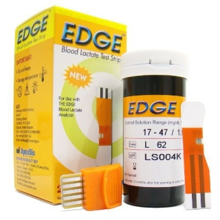 Caja de 25 tiras reactivas lactato THE EDGE