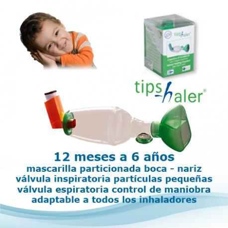 Tips-haler cámaras de inhalación avanzadas con válvulas inspiratoria y espiratoria