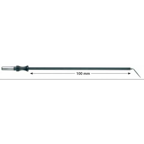Electrodo monopolar reutilizable aguja acodada longitud 100mm