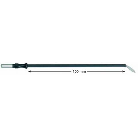 Electrodo monopolar reutilizable cuchilla acodada longitud 100mm