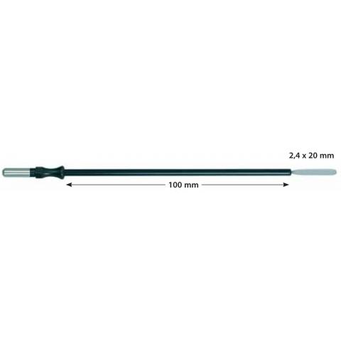 Electrodo monopolar reutilizable cuchilla longitud 100mm